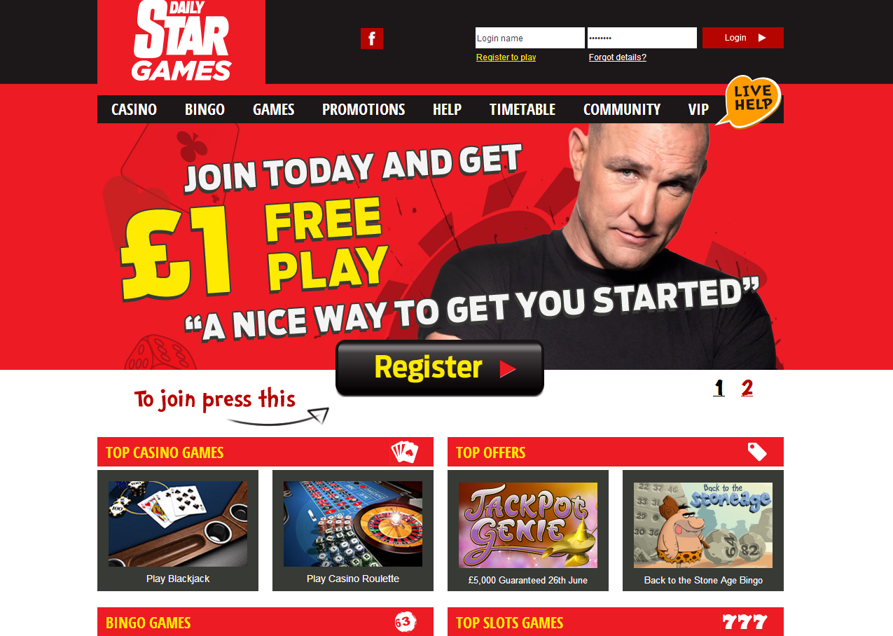 Daily Star Games review landing page