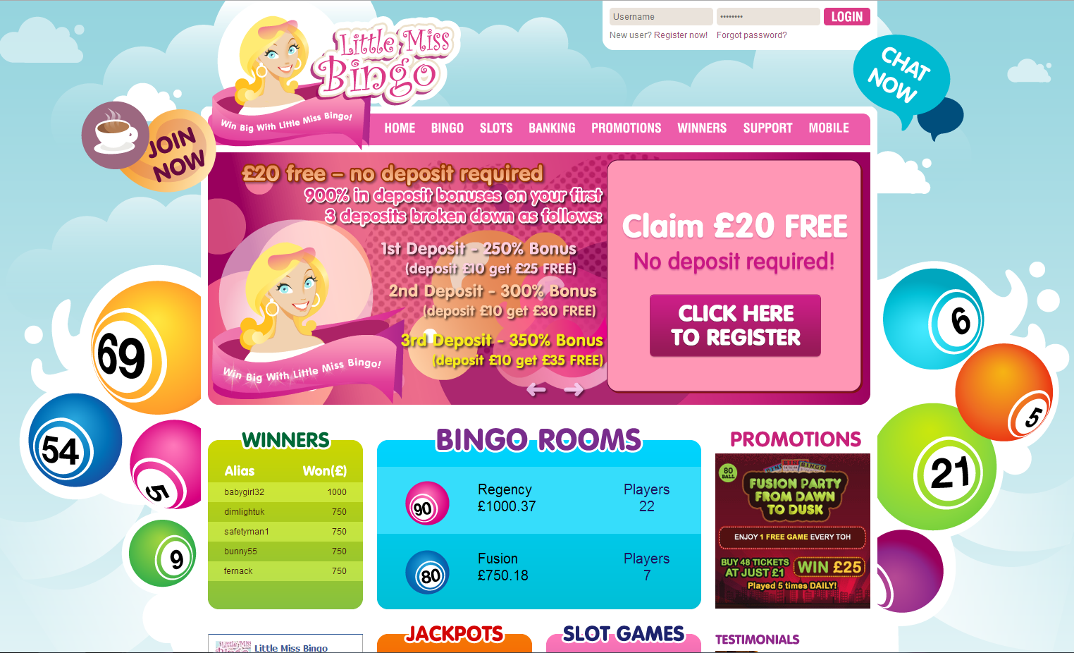 little miss bingo review image