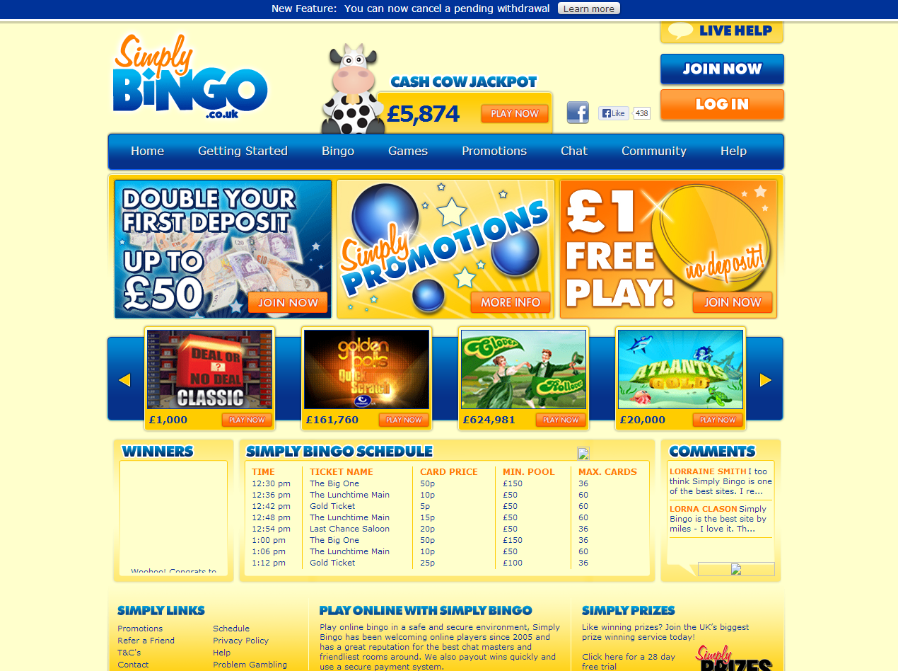 Simply Bingo review image